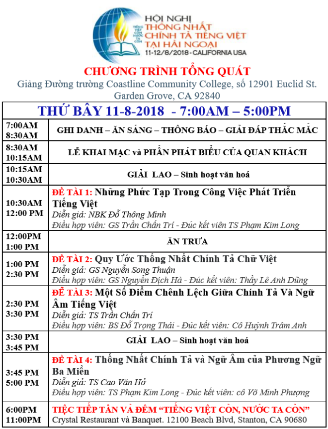 CHƯƠNG TRINH THU BAY 11-8-2018 - FF